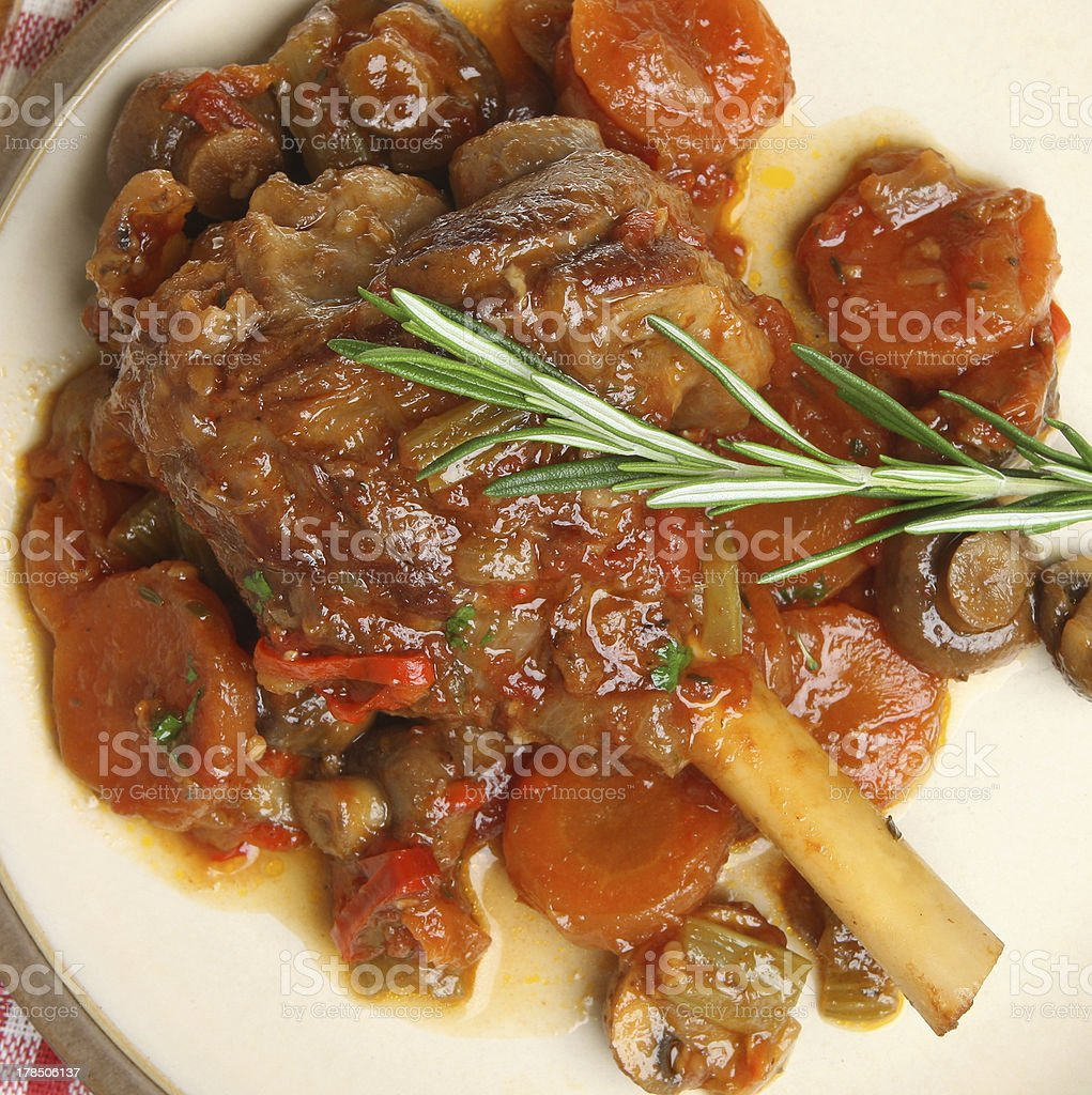 Lamb Shank Dinner royalty-free stock photo
