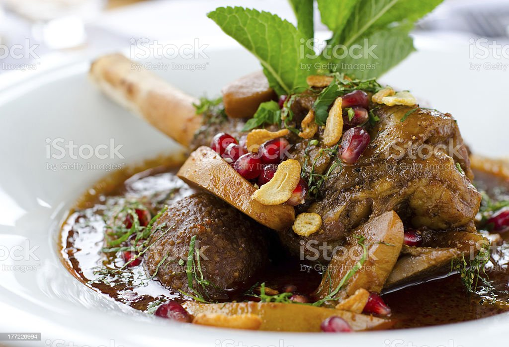 Lamb Shank Dish royalty-free stock photo