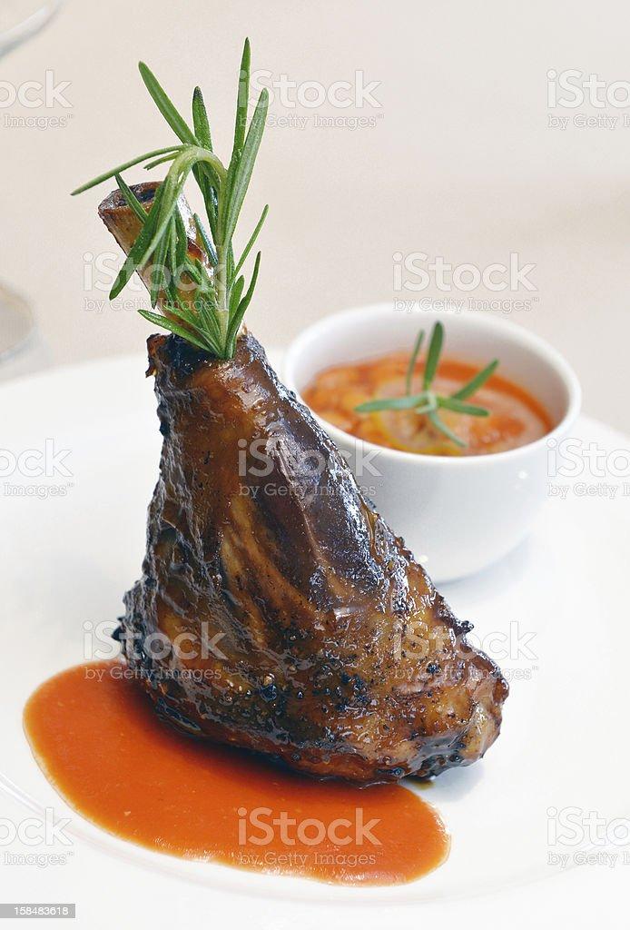 lamb shank royalty-free stock photo