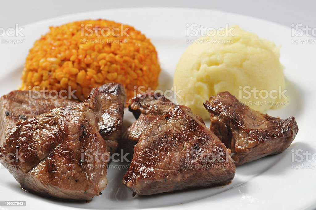 lamb skewers royalty-free stock photo