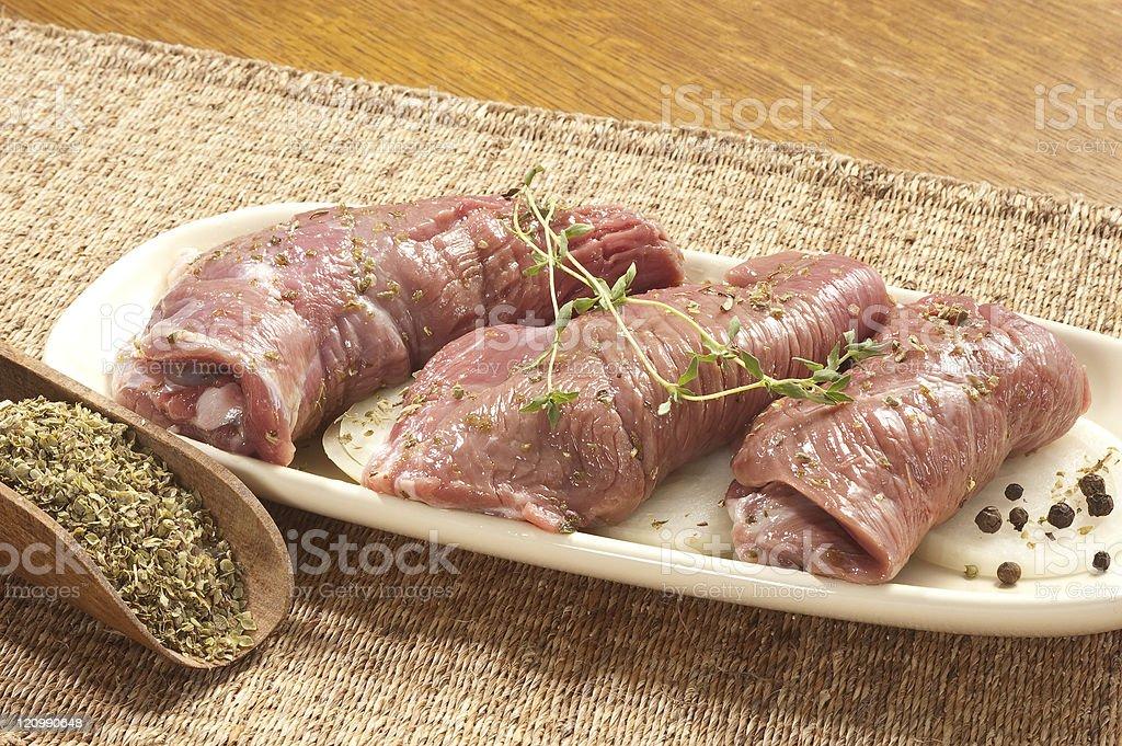 lamb slices royalty-free stock photo