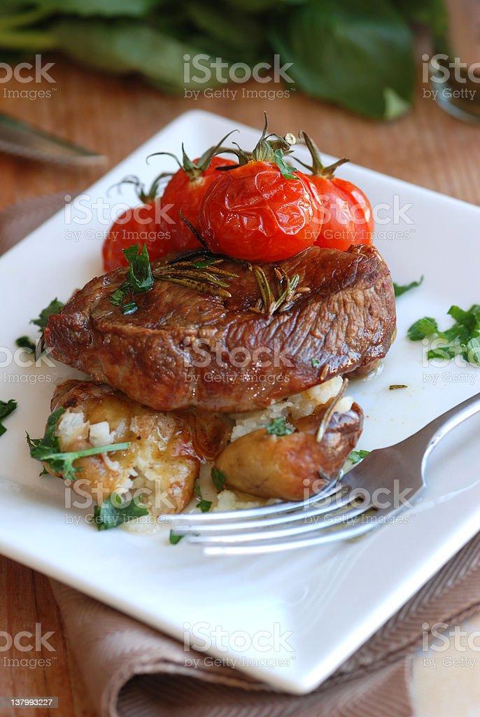 Lamb steak royalty-free stock photo