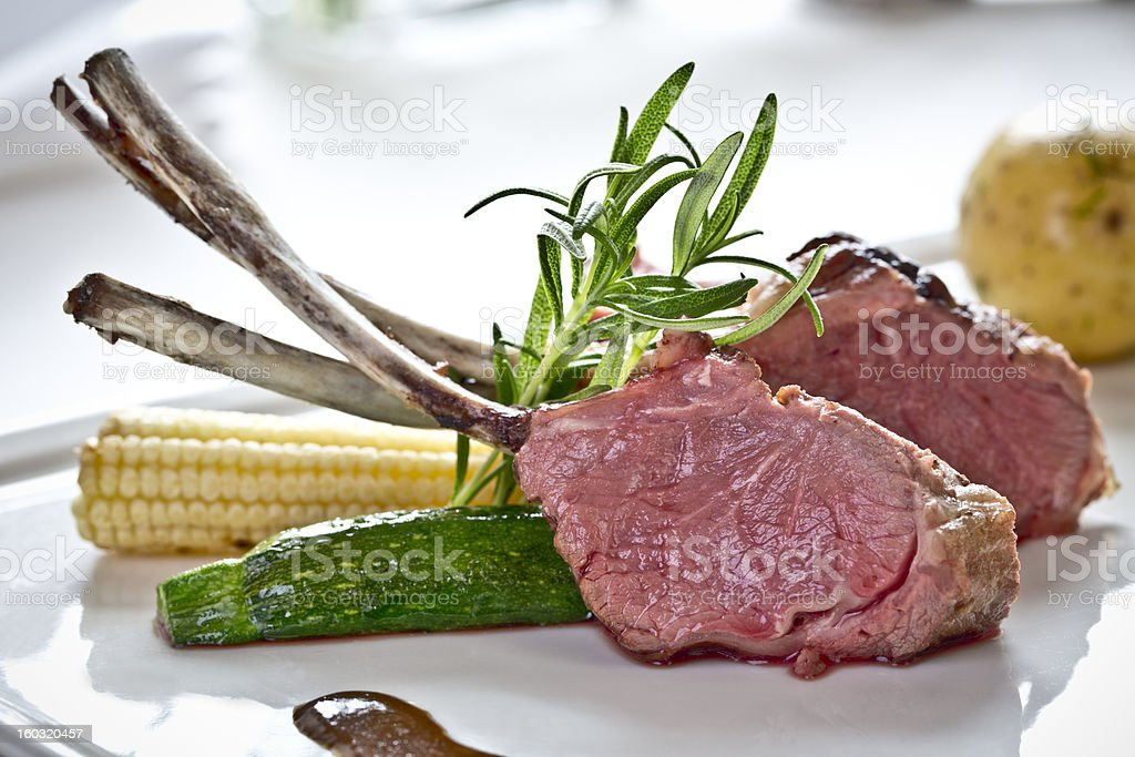 lamb steaks royalty-free stock photo