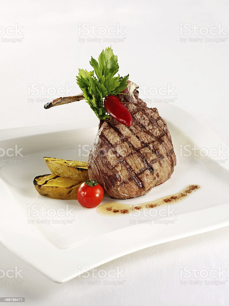 Lamb Steaks stock photo