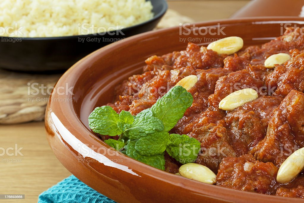 Lamb Tagine Tajine royalty-free stock photo