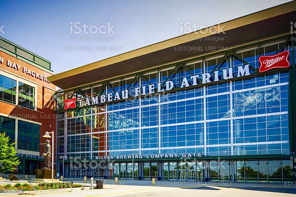 Lambeau Field Atrium in Green Bay, Wisconsin stock photo