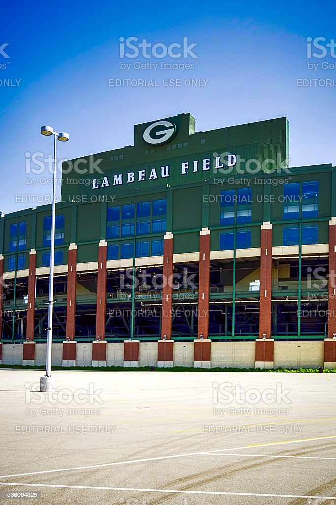 Lambeau Field Stadium in Green Bay, Wisconsin stock photo