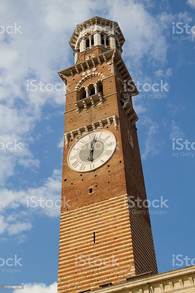 Lamberti Tower in Verona stock photo