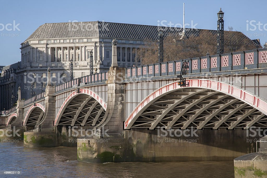 Lambeth Bridge and River Thames, Westminster, London stock photo