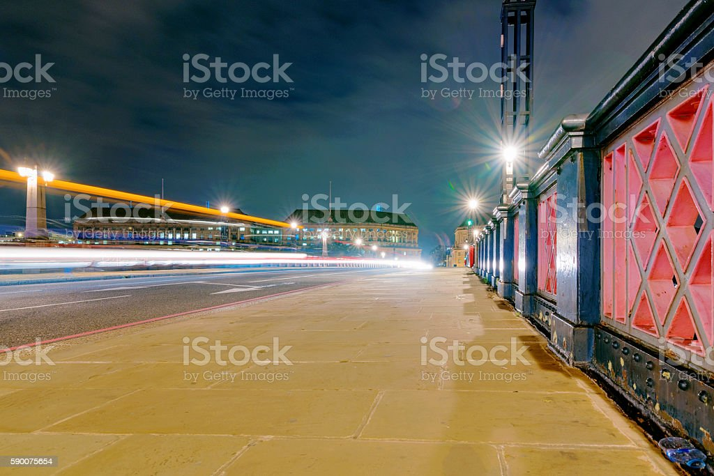 Lambeth Bridge at night stock photo
