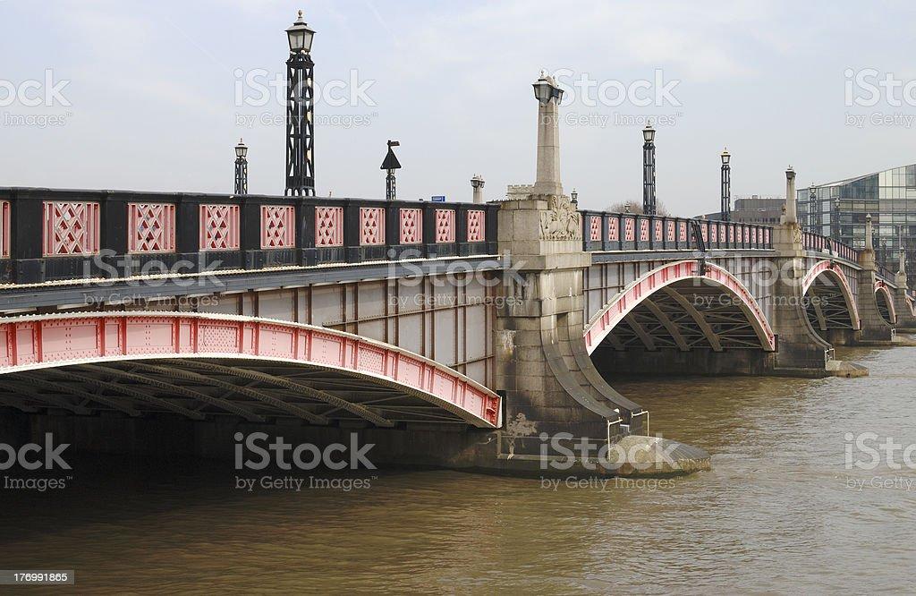 Lambeth Bridge. Westminster. London royalty-free stock photo
