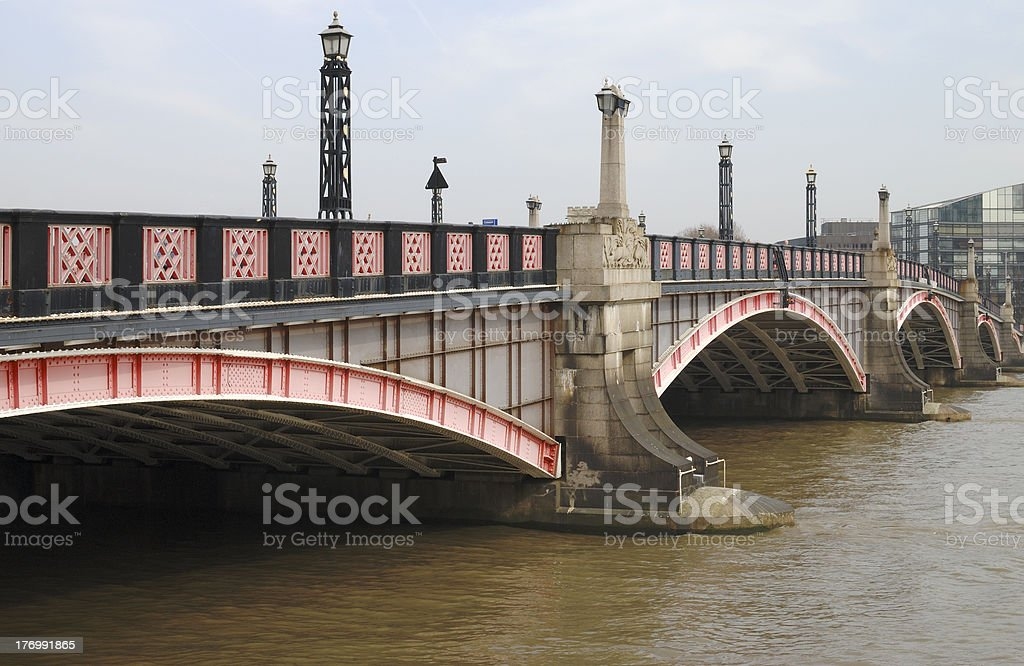 Lambeth Bridge. Westminster. London stock photo