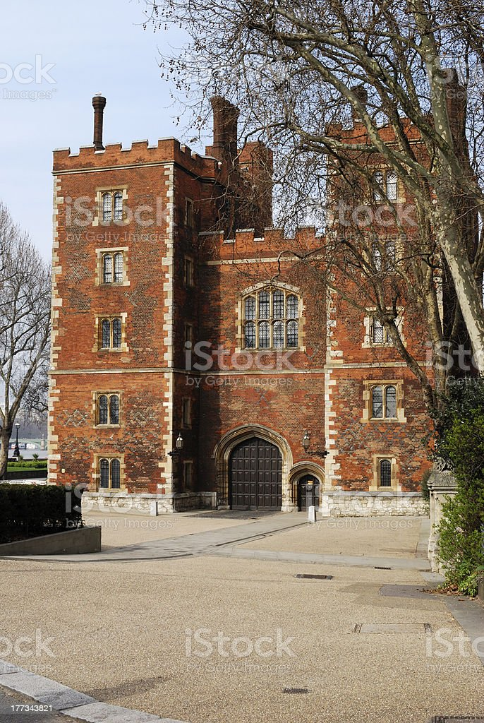 Lambeth Palace. London. England stock photo