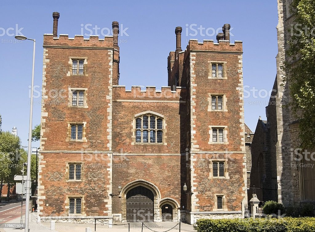 Lambeth Palace, London stock photo
