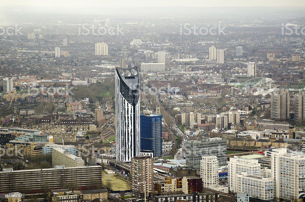 Lambeth with Strata Tower stock photo