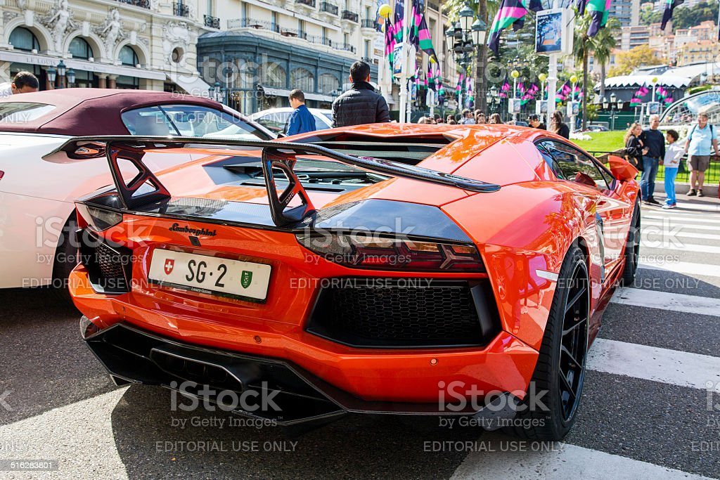 Lamborghini Aventador DMC stock photo