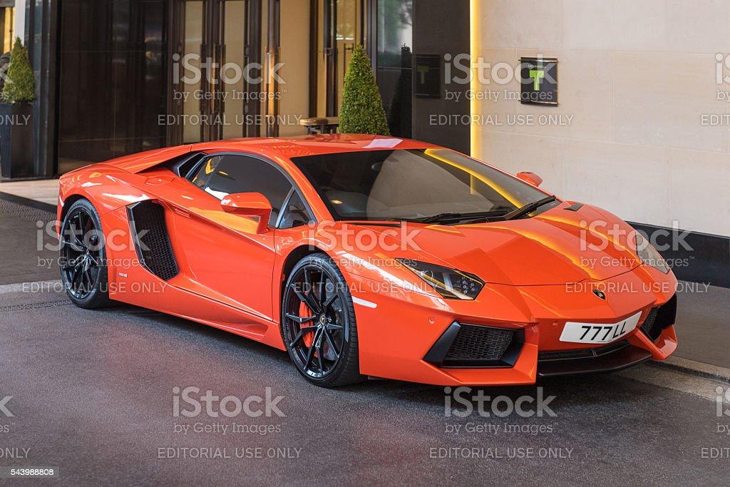Lamborghini Aventador, Mayfair, London, England, UK stock photo