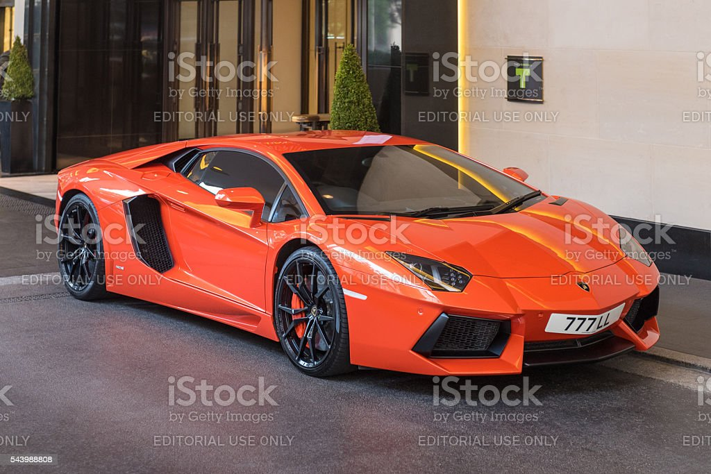 Lamborghini Aventador, Mayfair, London, England, UK stock photo
