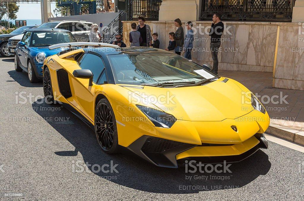 Lamborghini Aventador SV, Monte Carlo, Monaco stock photo