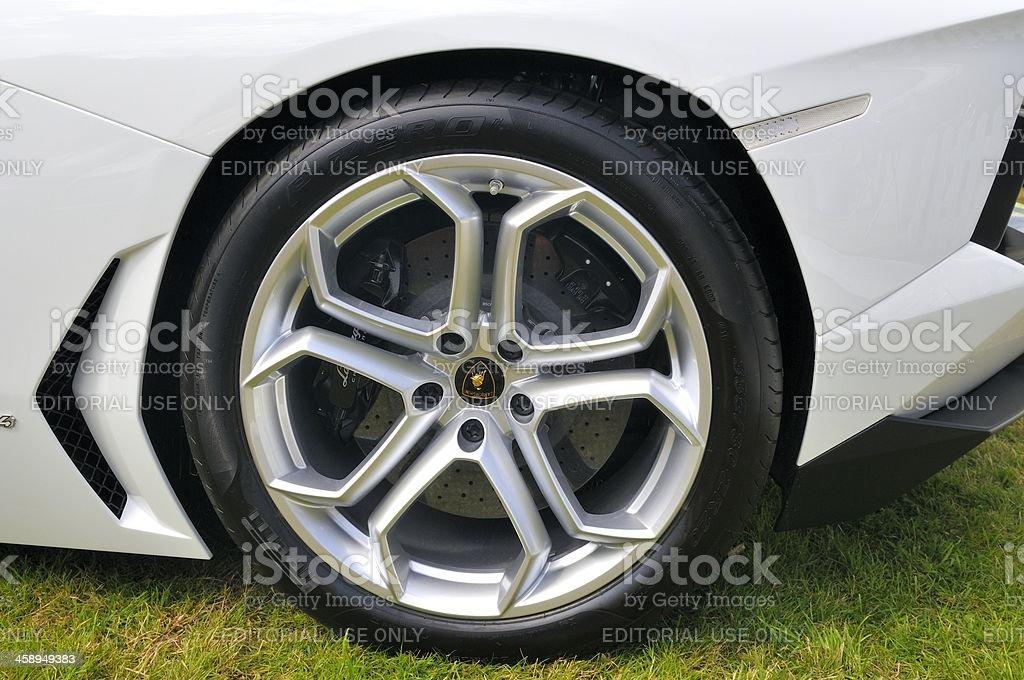 Lamborghini Aventador wheel royalty-free stock photo