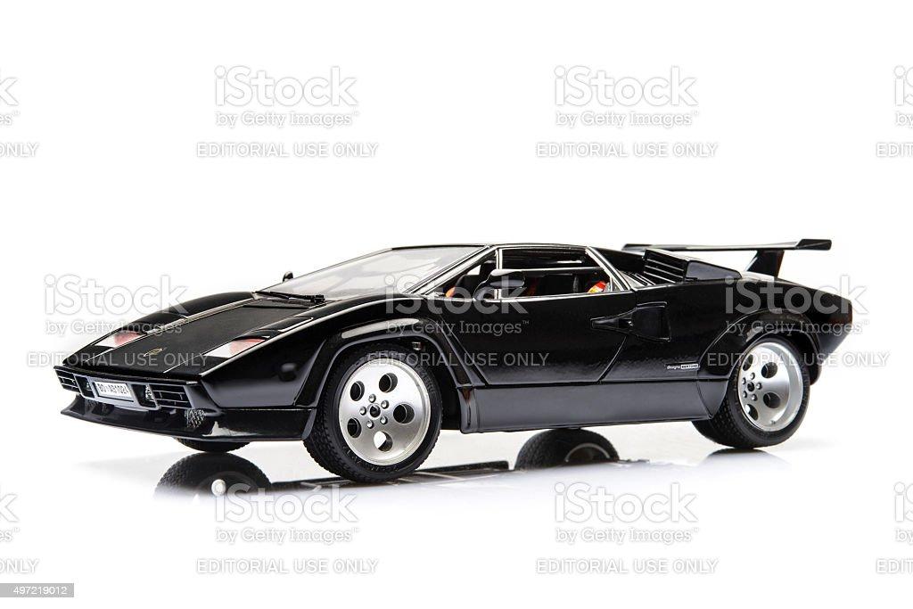 Lamborghini Countach supercar model stock photo