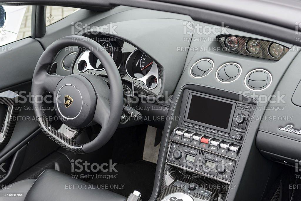 Lamborghini Gallardo interior stock photo