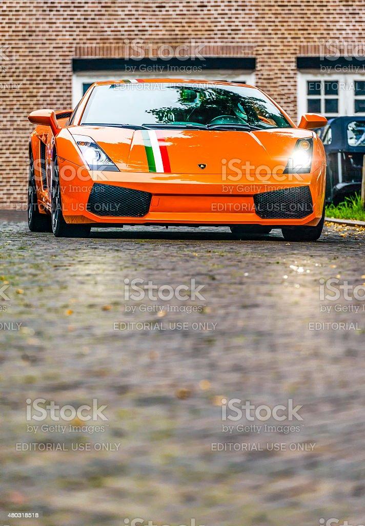 Lamborghini Gallardo sports car stock photo