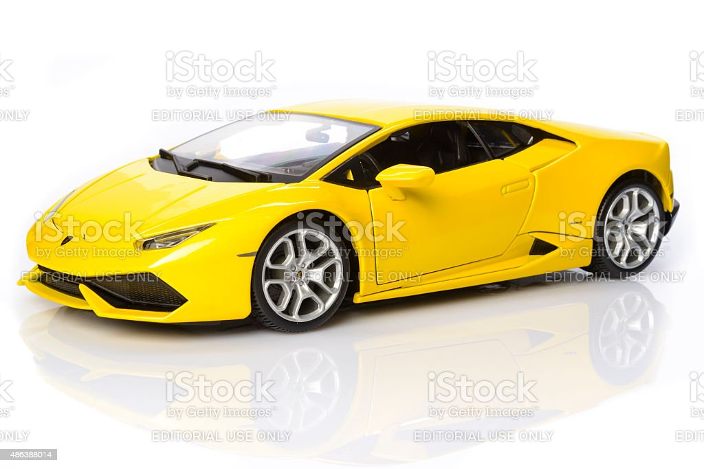 Lamborghini Huracan lp700-4 supercar model car stock photo