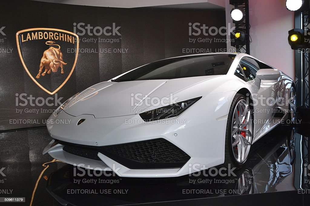 Lamborghini Hurac?n LP 610-4 at the press launch stock photo