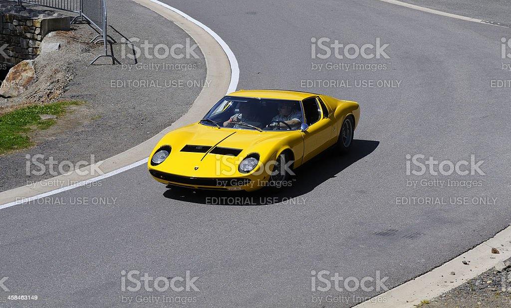 Lamborghini Miura S classic Italian sports car stock photo