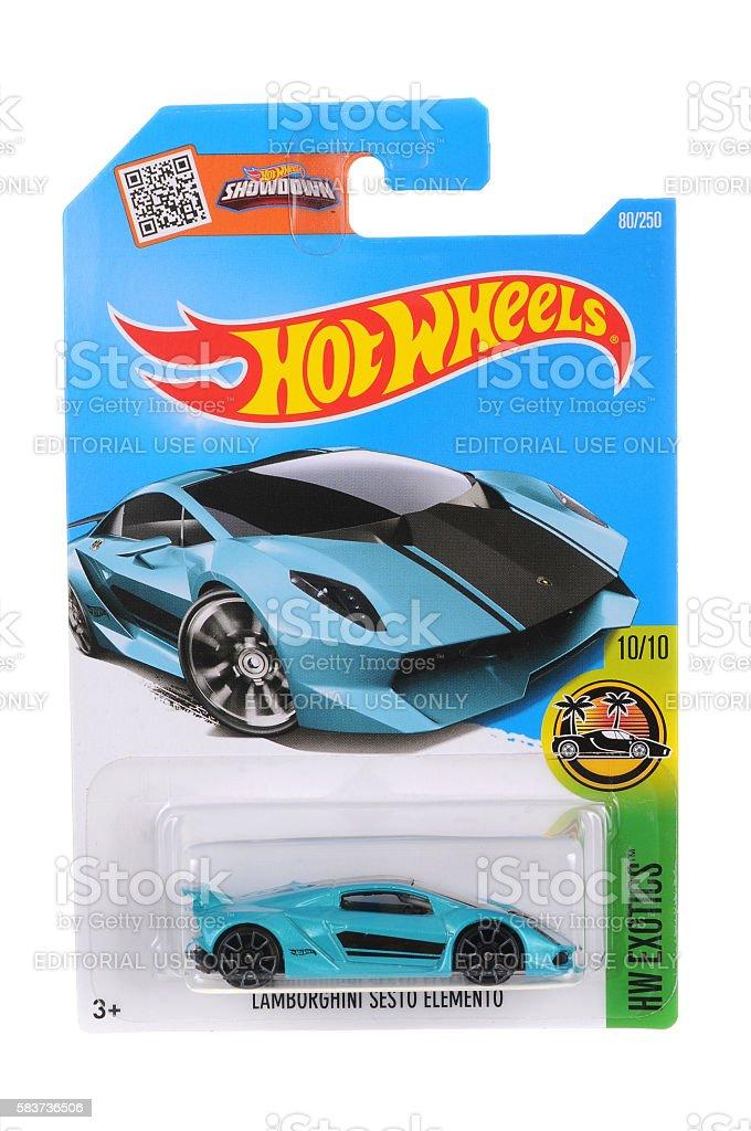 Lamborghini Sesto Elemento Hot Wheels Diecast Toy Car stock photo