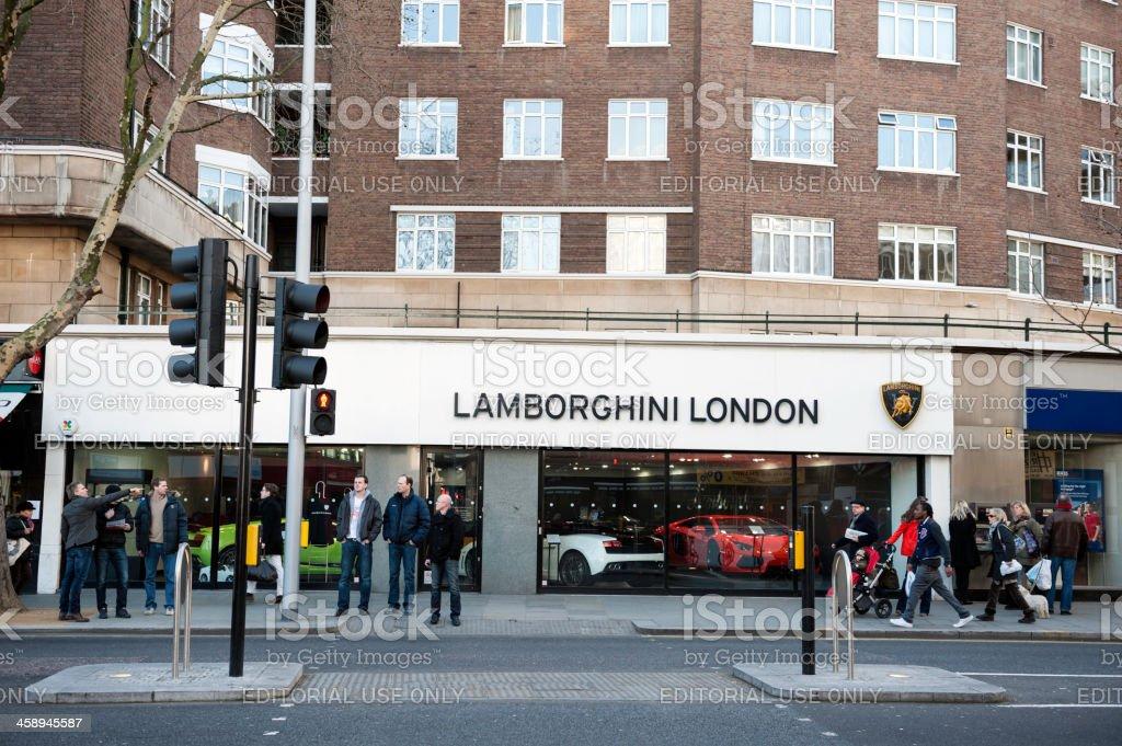 Lamborghini showroom in London royalty-free stock photo