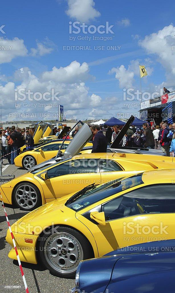 Lamborghini sports cars royalty-free stock photo