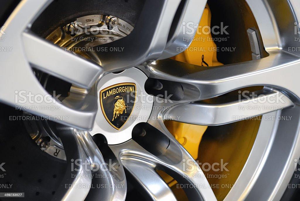 Lamborghini wheel stock photo