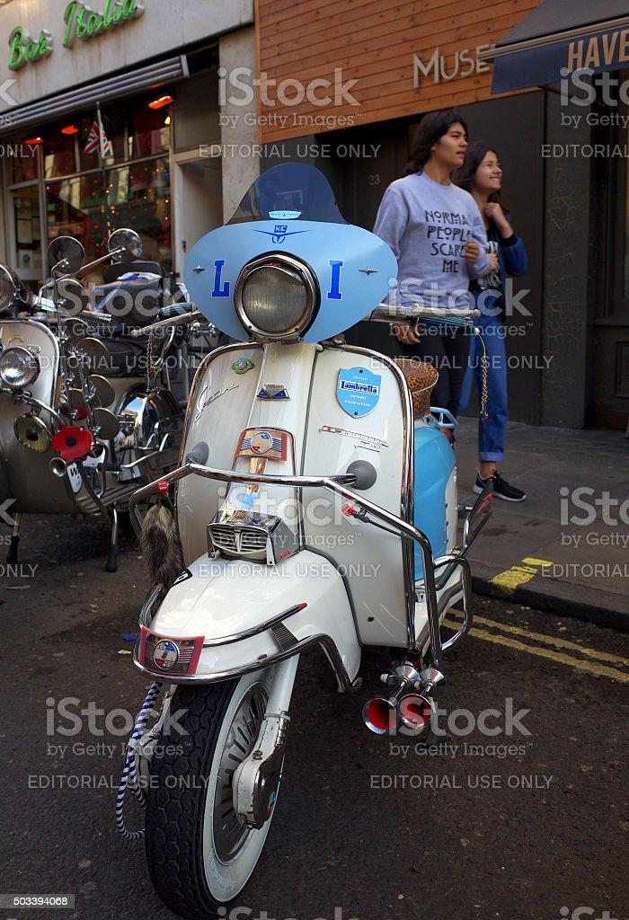 Lambretta Scooter - London stock photo