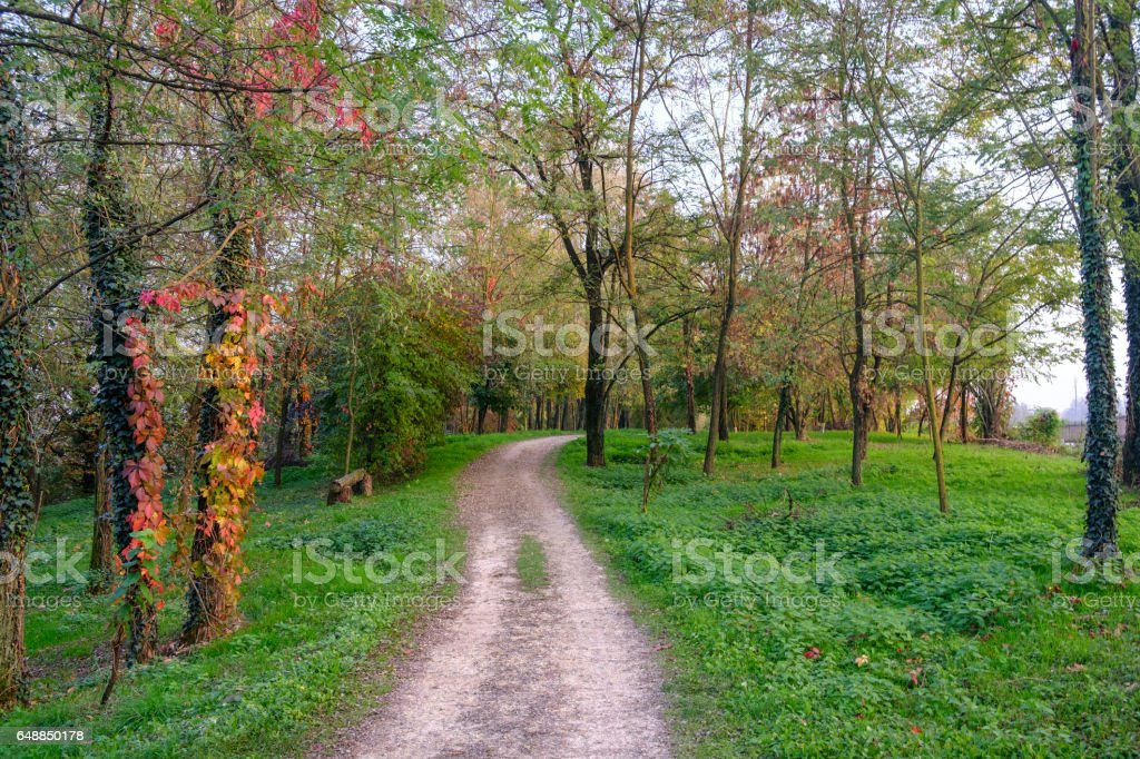Lambro valley (Lombardy, Italy): autumn landscape stock photo