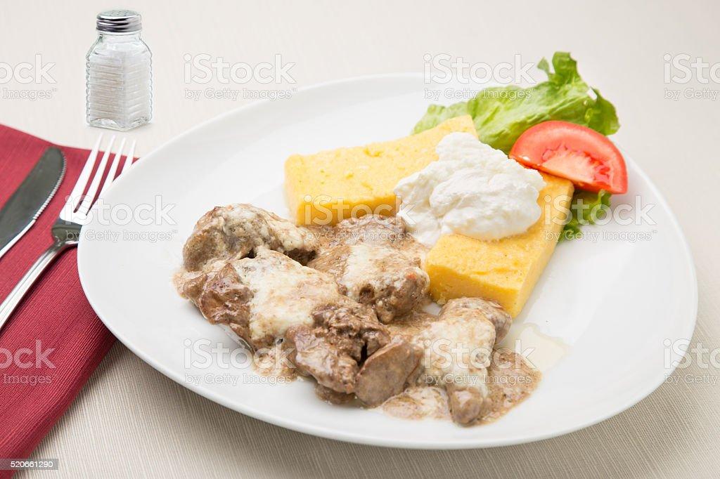 Lamb's liver stock photo