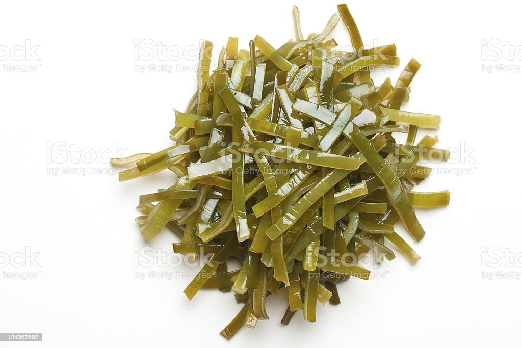 laminaria (seaweed) stock photo