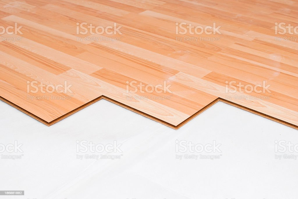 Laminate floor in wooden color royalty-free stock photo