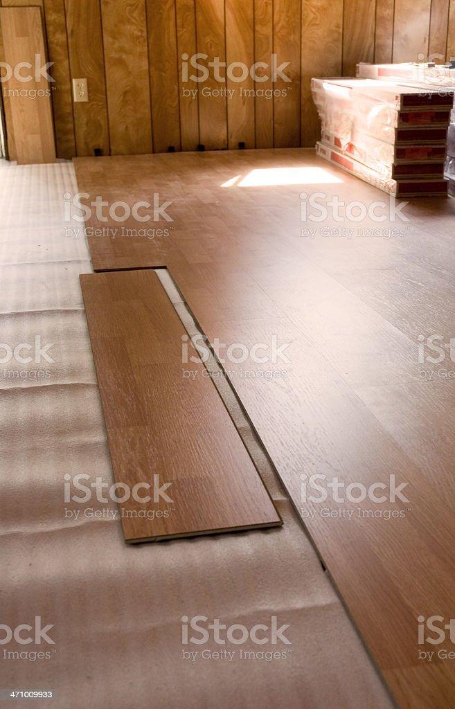 Laminate Flooring Installation royalty-free stock photo