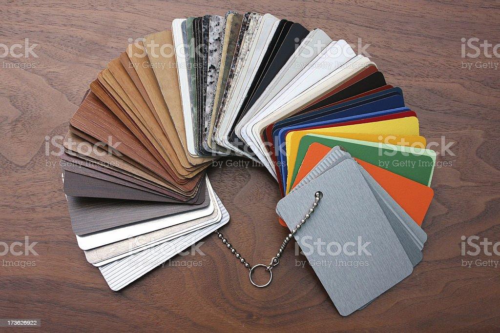 Laminate samples royalty-free stock photo