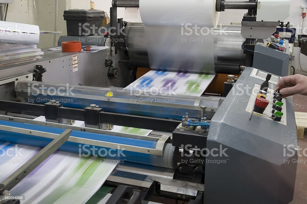 Laminating machine royalty-free stock photo