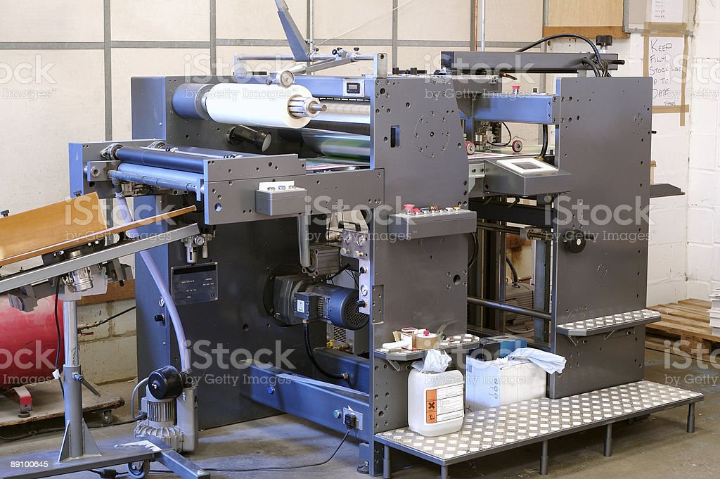 Lamination Machine... stock photo