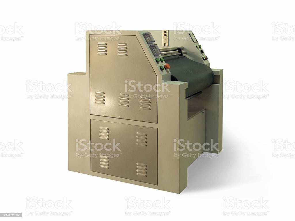 lamination machine stock photo