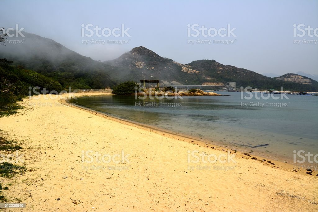 Lamma island, beach at Sok Kwu Wan bay Hong Kong stock photo