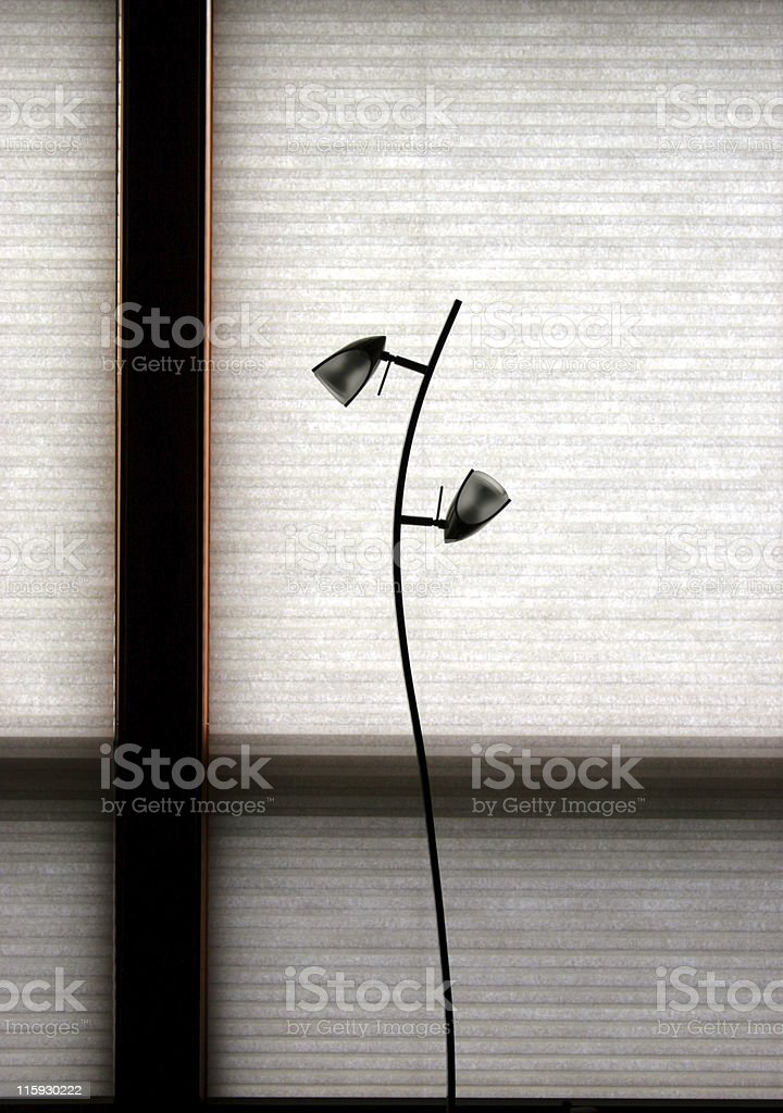 Lamp and blinds royalty-free stock photo