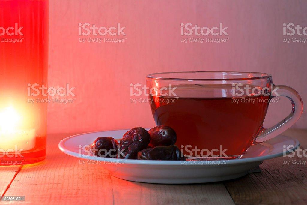 Luz e com Chá de Frutos foto de stock royalty-free