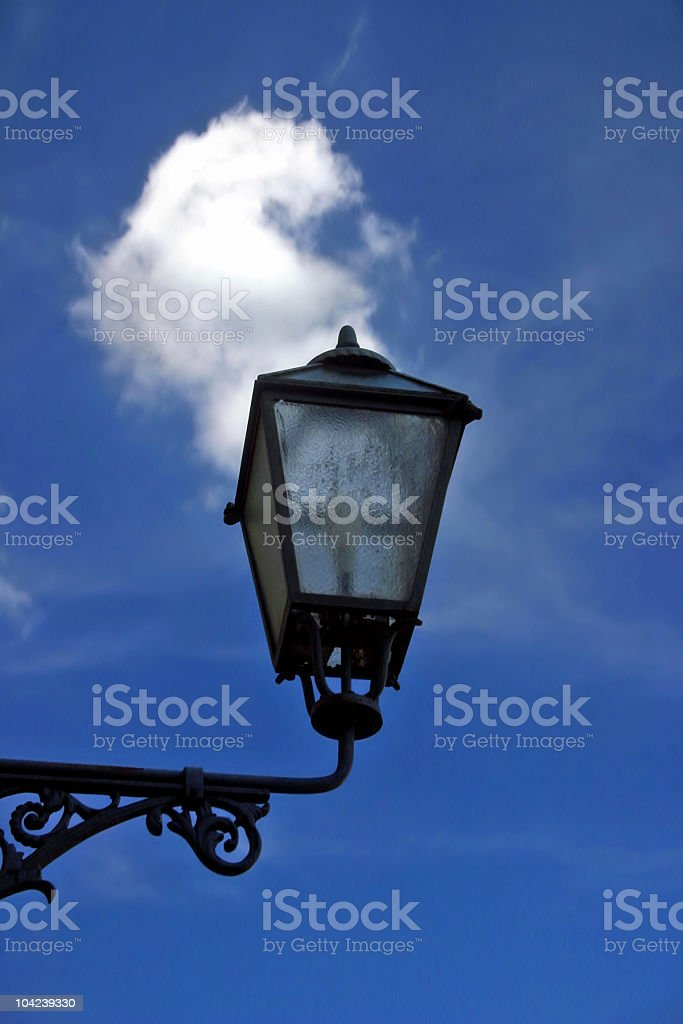 Lamp and Sky royalty-free stock photo