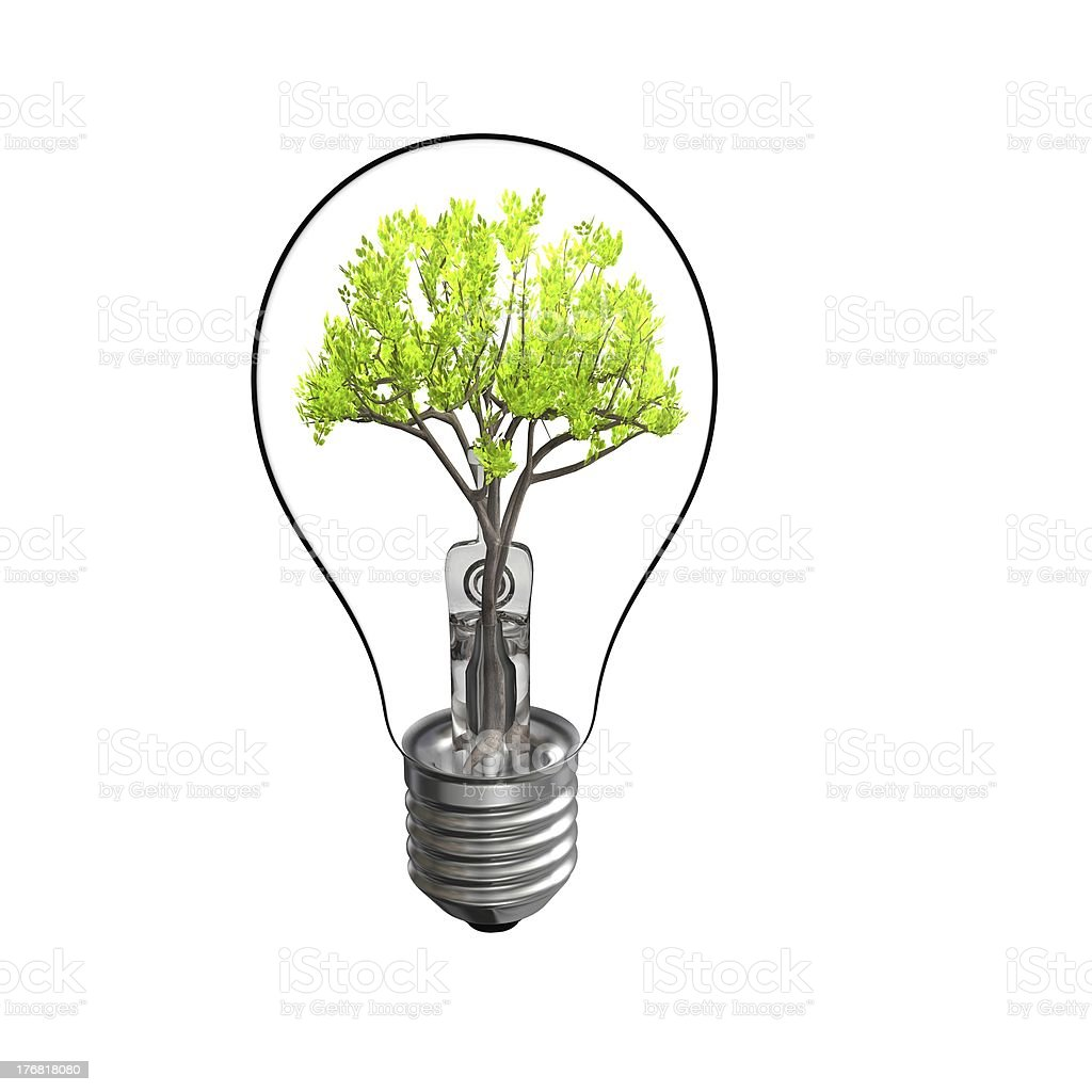 Lamp and Tree royalty-free stock photo