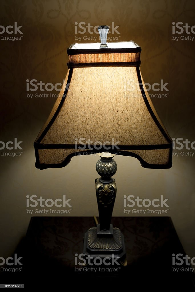 Lamp at a Luxury Hotel stock photo